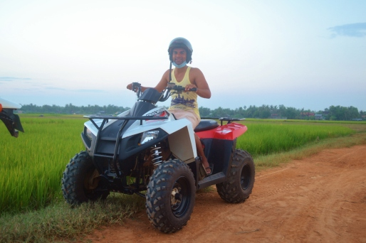 ATV cruisin' to catch a sunset in the fields!